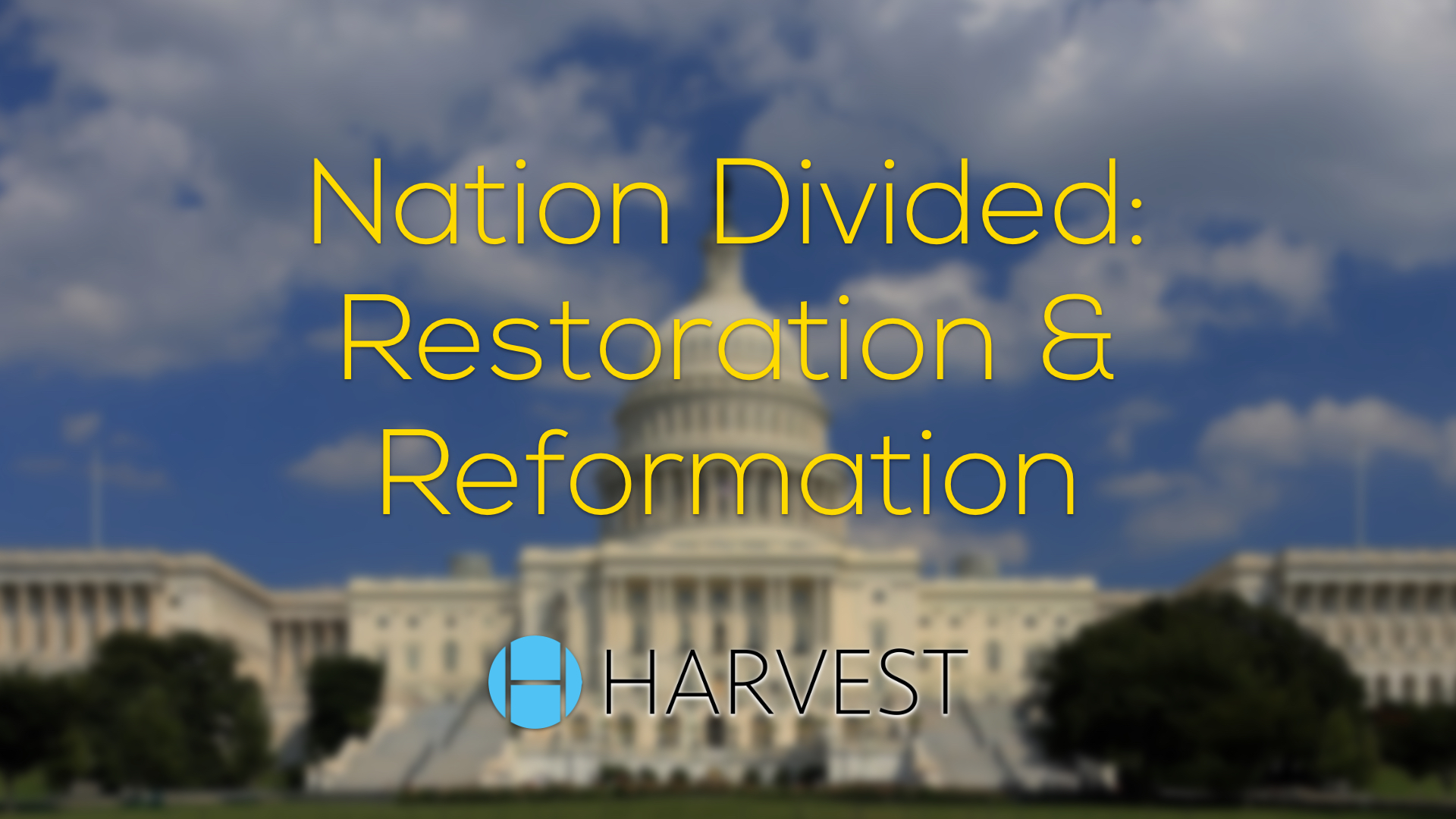 Nation Divided: A Message of Restoration and Reformation